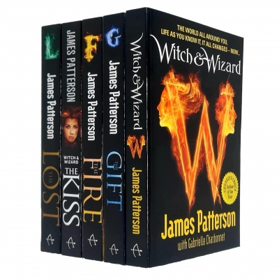 James Patterson Witch & Wizard Series 5 Books Collection Set (The Gift, The Fire, The Kiss, The Lost, Witch & Wizard) by James Patterson