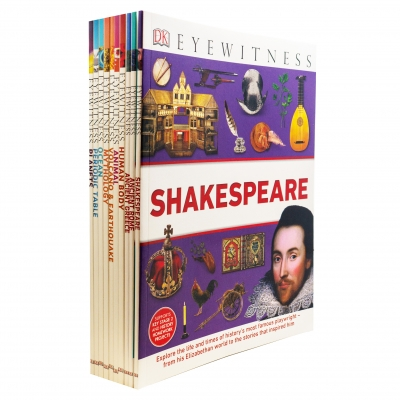 DK Eyewitness Collection 10 Books Set - Shakespeare, Ancient Rome, Ancient Greece, Human Body, Animal, Mythology, Ocean, Planets and More by DK