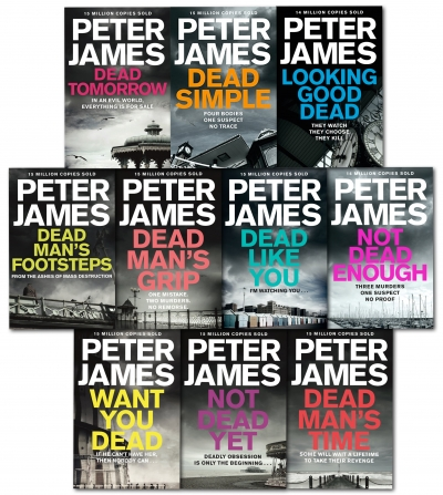 Peter James Roy Grace Series 10 Books Collection Set (Dead Simple, Looking Good Dead, Not Dead Enough, Dead Tomorrow, Dead Like You & MORE!) by Peter James