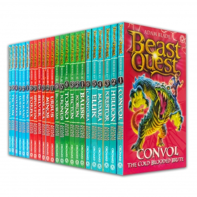 Beast Quest Series 7 - 10 Sets 24 Books Collection (Series 7 Books 1-6, Series 8 Books 1-6, Series 9 Books 1-6, Series 10 Books 1-6) by Adam Blade