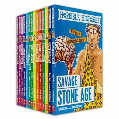 Horrible Histories Series 14 Books Collection Set by Terry Deary by Terry Deary, Martin Brown (Illustrator)