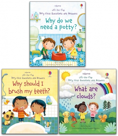 Usborne Lift-the-flap Series My Very First Questions and Answers Collection 3 Books Set by Katie Daynes