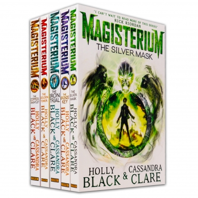 The Magisterium Series 5 Books Set (The Iron Trial, The Copper Gauntlet, The Silver Mask, The Bronze Key, The Golden Tower) by Holly Black & Cassandra Clare