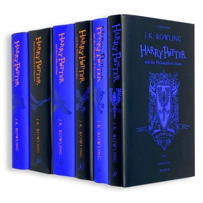 Harry Potter House Ravenclaw Edition Series 6 Books Collection Set By J.K. Rowling by J.K. Rowling