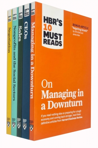 HBRs 10 Must Reads Collection 5 Books Set (Managing in a Downturn, CEOs, Sales, Nonprofits and the Social Sectors, Negotiation) by Various