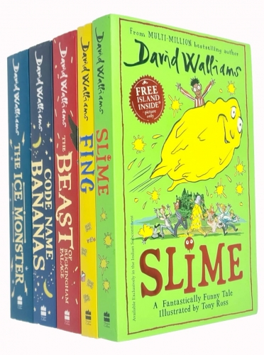 David Walliams Collection 5 Books Set (Fing, The Ice Monster, Slime, Code Name Bananas, The Beast of Buckingham Palace) by David Walliams