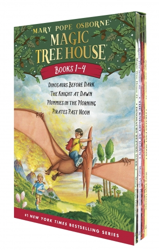 Magic Tree House Series Collection 4 Books Box Set (Books 1 - 4) by Mary Pope Osborne