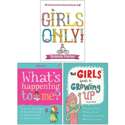 Girls Only, What's Happening to Me Girls, The Girls Guide to Growing Up 3 Books Collection Set by Victoria Parker, Susan Meredith, Anita Naik
