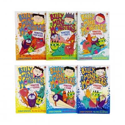 Billy and the Mini Monsters 6 Books Collection Set by Zanna Davidson (Monsters go to School, on a Plane, In the Dark, Go to a Party! and More) by Zanna Davidson