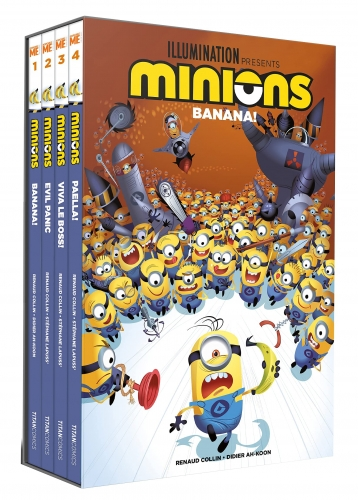 Despicable Me Minions Banana Series Volumes 1 - 4 Graphic Novel Books Collection Box Set by Various