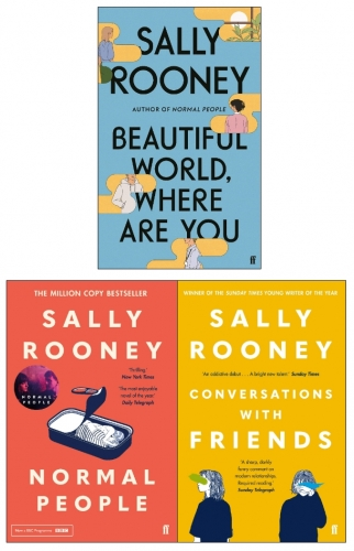 Sally Rooney Collection 3 Books Set (Beautiful World Where Are You, Normal People, Conversations with Friends) by Sally Rooney