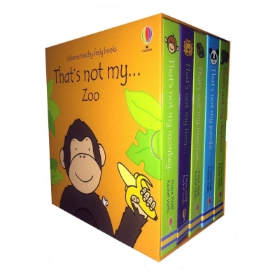 Usborne Touchy-Feely Books Thats Not My Zoo Collection 5 Books Set (Thats Not My Elephant, Thats Not My Panda, Thats Not My Meerkat and MORE!) by Fiona Watt