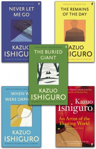 Kazuo Ishiguro Collection 5 Books Collection Set (An Artist of the Floating World, When We Were Orphans, The Remains of the Day & More) by Kazuo Ishiguro