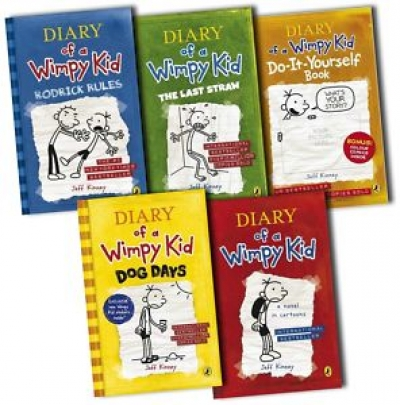 Diary of a Wimpy Kid Collection 5 Books Set