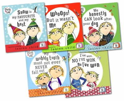 Charlie and Lola My Completely Best Story 5 Books Set and CD