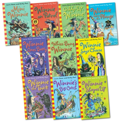 Winnie the Witch Collection 10 Books Set Pack Laura Owen & Korky Paul Gift Boxed by Valerie Thomas