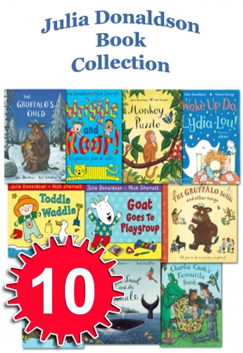 The Julia Donaldson Collection Pack 10 Books Set Inc Gruffalo Song Book by Julia Donaldson