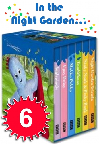 In the Night Garden Little Pocket Library 6 Books Set by BBC