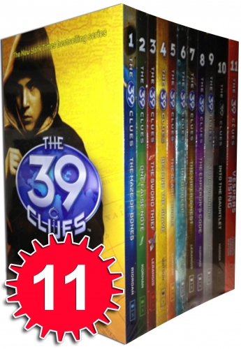 The 39 Clues Collection 11 books Set pack plus 66 digital game cards find codes by Rick Riordan