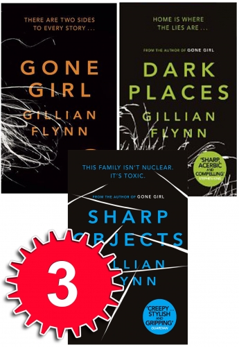 Gillian Flynn Series 3 Books Collection Set Gone Girl Dark Places Sharp Objects by Gillian Flynn