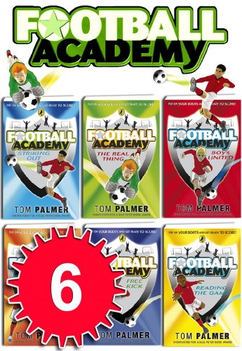 Football Academy 6 Books Set Tom Palmer collection NEW Free Kick, striking out by Tom Palmer