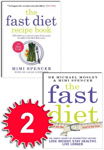 The Fast Diet & The Fast Diet Recipe Book 2 Book Collection Set by Dr Michael Mosley, Mimi Spencer