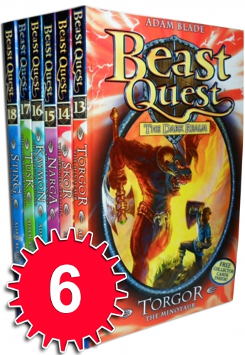 Beast Quest Series 3 The Dark Realm 6 Books Collection Set (Books 13-18) by Adam Blade