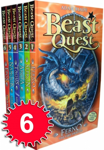Beast Quest Series 1 6 Books Collection Set (1 to 6) by Adam Blade