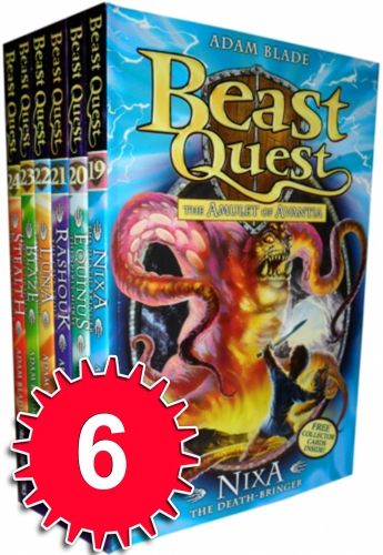 Beast Quest Series 4 Amulet of Avanti 6 Books Collection Set (Books 19-24) by Adam Blade