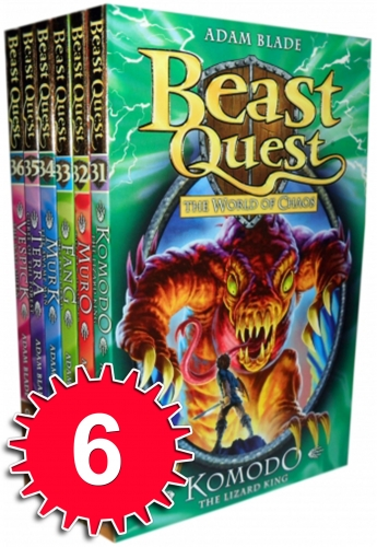Beast Quest Series 6 The World of Chaos 6 Books Collection Set (Books 31-36) by Adam Blade