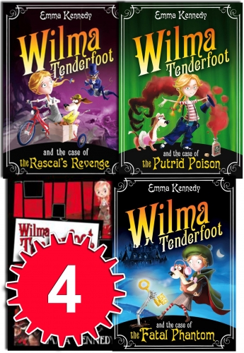Emma Kennedy Wilma Tenderfoot 4 Books Collection (The putrid, the frozen hearts, Fatal Phantom, Rascal's Revenge) by Emma Kennedy