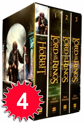 The Lord Of The Rings The Hobbit 4 Books Collection Boxed Set by J.R.R.Tolkien