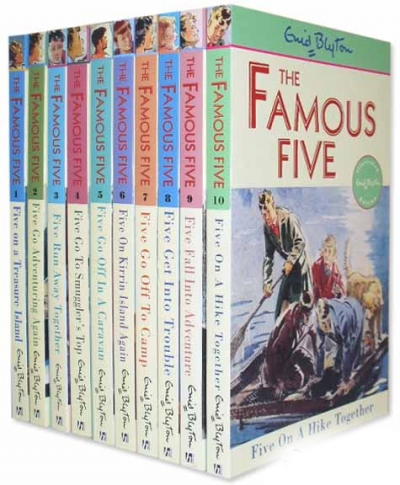 Enid Blyton Books Famous Five Collection 10 Books Set (Books 1-10) by Enid Blyton