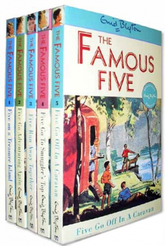 Enid Blyton Books - Famous Five Collection 5 Books Set (Books 1 To 5) by Enid Blyton