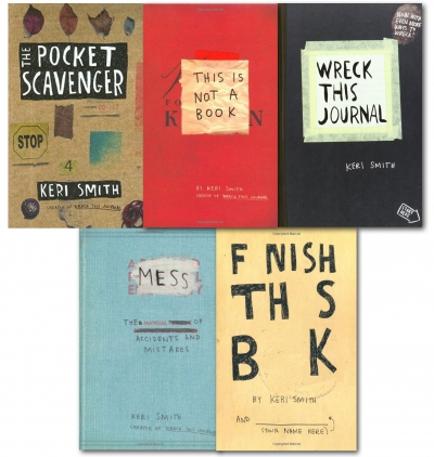 Keri Smith 5 Books Collection Set Wreck This Journal Mess This Is Not A Book by Keri Smith