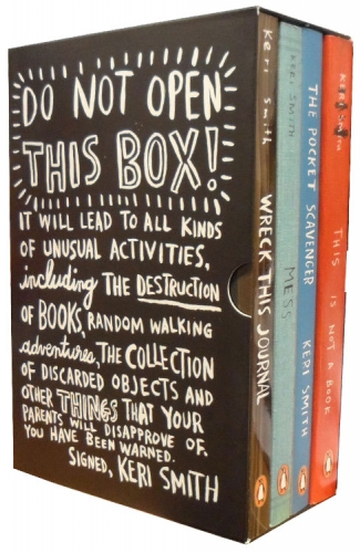 Keri Smith Do Not Open This Box 4 Books Collection Set Mess, Wreck This Journal by Keri Smith