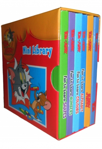 Mini Library Tom and Jerry Pocket Little Library 6 Books Set by Tom and Jerry