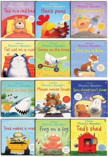 Usborne Phonics Young Readers 12 Picture Books Collection Gift Set by Phil Roxbee Cox,  Stephen Cartwright