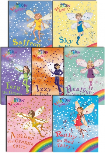 Rainbow Magic - Series 1 Colour Fairies Collection 7 Books Pack Set (Books 1 to 7) by Daisy Meadows