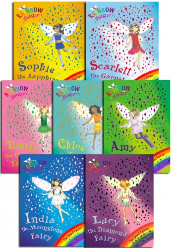 Rainbow Magic Series 4 Jewel Fairies 7 Books Pack Set (Books 22 - 28) by Daisy Meadows