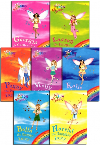 Rainbow Magic Series 5 Pet Keeper Fairies Collection 7 Books Pack Set Books 29 to 35 by Daisy Meadows