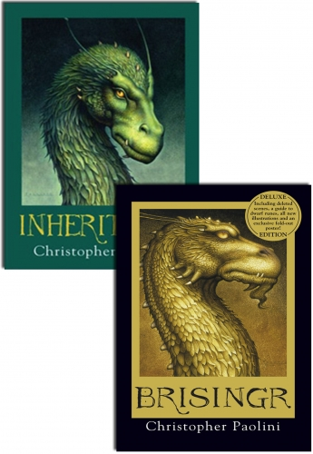 Inheritance Cycle Collection Christopher Paolini 2 Books Set Pack Brisingr by Christopher Paolini
