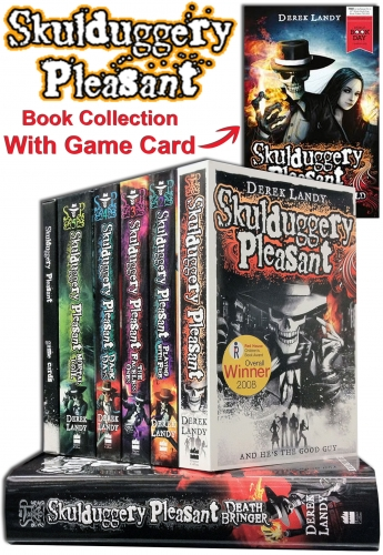 Skulduggery Pleasant 7 Books Set Collection Game Card Pack Book
