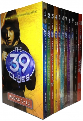 The 39 Clues Series 1 - 11 books Collection Set Pack plus 66 Digital Game Cards by Rick Riordan