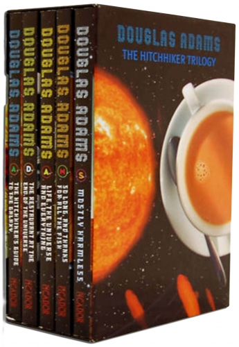 The Hitchhikers Guide To The Galaxy Trilogy Collection 5 Books Set by Douglas Adams