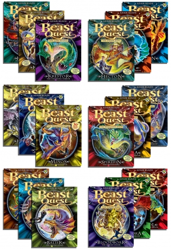 Beast Quest 18 Books Collection Set (37-54) by Adam Blade