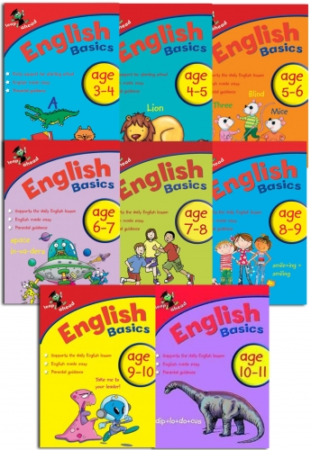 Leap Ahead English Basics Ages (3-11), 8 Books Collection Set easy, fun, support by Paul Broadbent, Peter Patilla and Louis Fidge