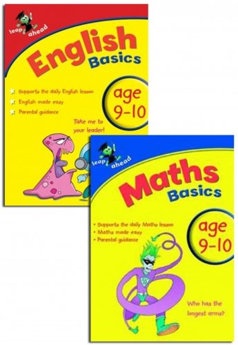 Leap ahead Maths and English Basics ages 9-10, 2 Book Set Collection by Paul Broadbent, Peter Patilla and Louis Fidge