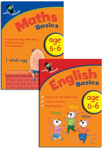 Leap ahead Maths and English Basics ages 5-6, 2 set book collection, easy by Paul Broadbent, Peter Patilla and Louis Fidge