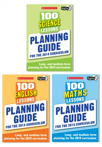 Planning Guide 100 Lessons 2014 Curriculum Collection 3 Books Set Maths Science by Scholastic